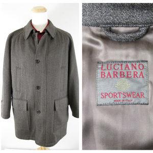 Luciano Barbera Sportswear Brown Wool Topcoat